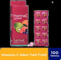 Vitamina C La Sante Tutti Frutti 500Mg Caja X 100 Tabs.