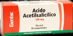 Acido Acetilsalicilico 100Mg Cjx30Tab