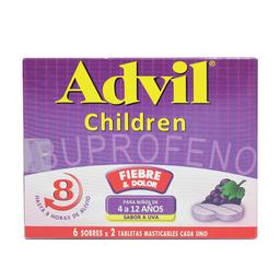 Advil Children Uva 4-12A Tma Cjx12Tab Pf