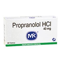 Propranolol Hcl  40Mg Cjx20Tab T.Q