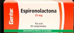 Espironolactona 25Mg Cjx20Tab W8P