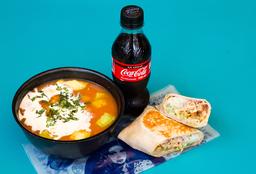Sopa Tapachula + Mini Burro  + Gaseosa 250 ml