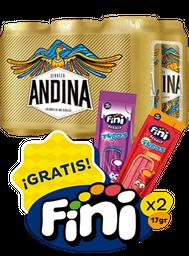 Cerveza Andina SixPack+Tubos de goma Fini
