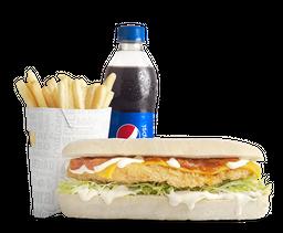Combo Sándwich Sub Apanado Colombiano