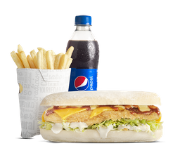 Combo Sándwich Sub Apanado BBQ