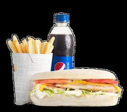 Combo Sándwich Sub Clásico de Pollo a la Parrilla