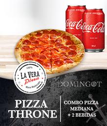 DOMINGOT: Pizza Mediana + 2 Bebidas