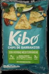 Kibo-Chips de Garbanzo sabor Hierbas Mediterraneas 28g