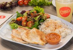 Pollo en Salsa Criolla + Limonada Natural