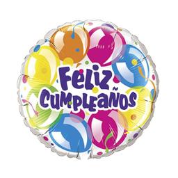 Globo Metalizado Feliz Cumpleaños