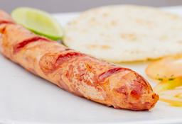 Chorizo con Arepa