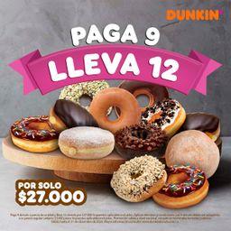 Pague 9 Donuts y Lleva 12 Donuts