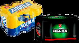 Rappicombo cervecero  6pack BECKS + Sixpack Aguila x6 unids lata