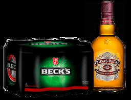 Rappicombo cervecero  6pack BECKS + Whisky 12 Años Chivas