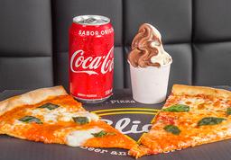 Combo Slice (2 Slices + bebida + helado)