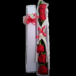 Caja Alargada x 6 Rosas