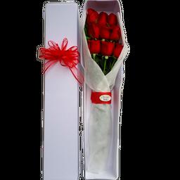 Caja Alargada x 12 Rosas