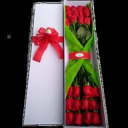 Caja Alargada x 24 Rosas