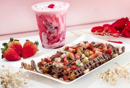 Caja Churros Nutella Fresa + Malteada Frutos Rojos