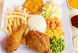 Para compartir! 2 Bandeja con pollo