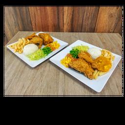 2 Bandejas con Pollo para Compartir