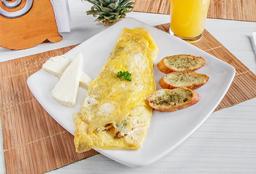 Omelette con Pollo y Champiñones