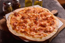 Pizza Cebolla Caramelizada y Tocineta