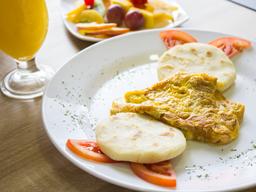 Desayuno + Jugo de Naranja 🤤🍊