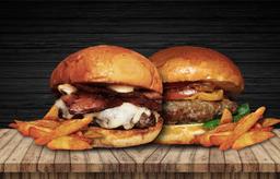 Sweet Bacon + hamburguesa Tradicional con papas