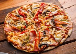 Pizza Pollo Tocineta Vegetales