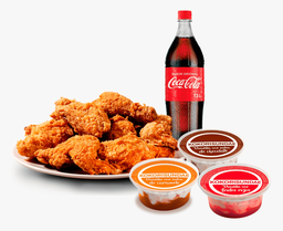 1 KK Apanado+ Coca-Cola 1,5 Lt + 3 Helados