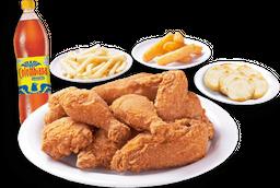 ⭐ Combo Pollo Apanado + 3 Acompañamientos + Bebida