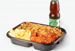 ⭐WOK BOX: Alitas + Francesa + Arroz Wok + Bebida Personal