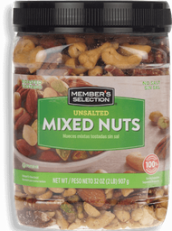 MS Unsalted Mixed Nuts 32oz