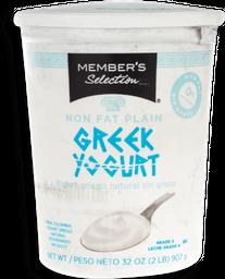Member's Selection Yogurt Griego Natural Sin Grasa 907 g / 2 lb