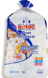 Bimbo Pan Blanco 2PK/600 g
