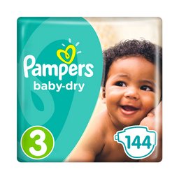 Pañales Pampers Baby Dry Talla 3 - 144u