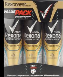 Rexona sportfan 3 pk/150 ml