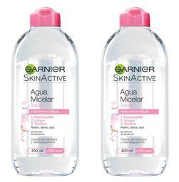 Garnier Agua Micelar 2pk/400ml