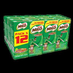 MILO® Leche Achocolatada Cajita 12pack x 180ml