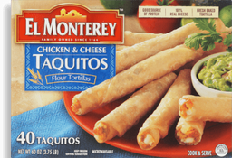 Taquitos Chicken & Cheese 40ct