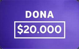 Donación: $20.000
