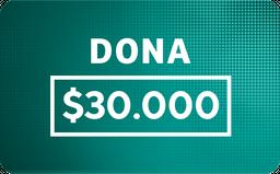 Donación: $30.000