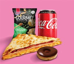 Combo Dunkin: Flat + Donut Chqui+ Coca-Cola + Paquete de Papas