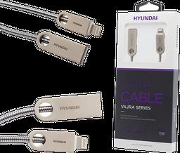 Cable de datos lightning  plateado