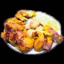 Pollo Asado Entero (8 presas) + Gratis 1/4 Pollo