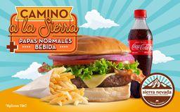 🍔Combo Camino a la Sierra (Hamburguesa + Papas + Bebida)