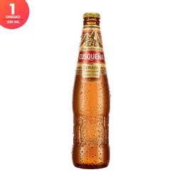 Cerveza Cusqueña Dorada - Botella 330ml x1