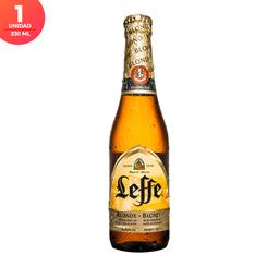 Cerveza Leffe Blonde - Botella 330ml x1