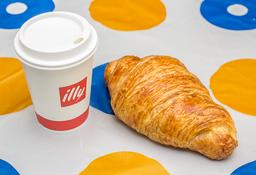 Capuccino Illy + Croissant Sencillo